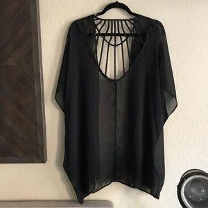 Charlotte Russe Swim - Charlotte Russe / Black Coverup Kimono